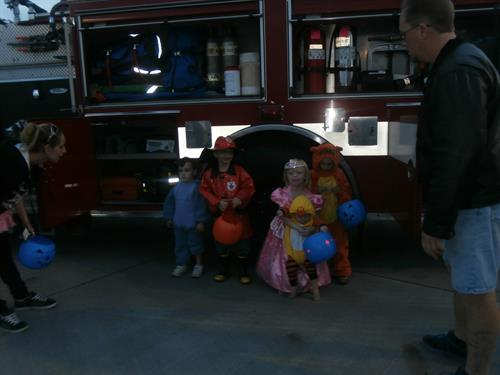 Trunk or Treat 2014 with the Nampa Fire Department