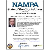 Mayor's State of the City address set for March 13 with new format and 'Taste & Talk of Nampa' planned