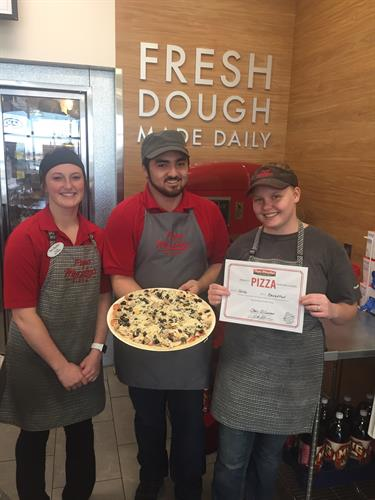 Team 116 perfect pizza award