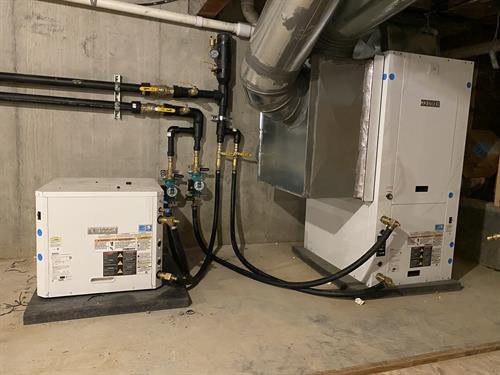 Geothermal Heat Pump inside Home