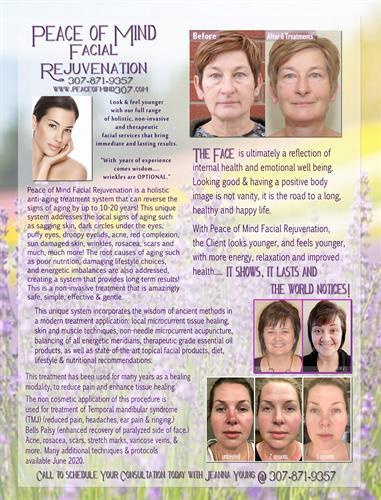 Peace of Mind Facial Rejuvenation Services
