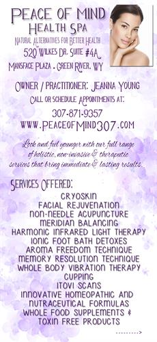 Peace of Mind Health Spa Services