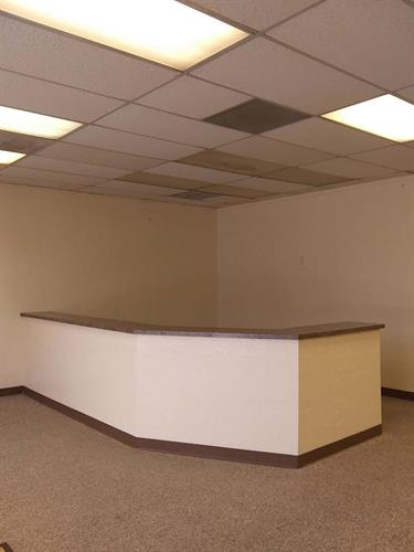 large office space with front desk available