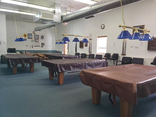 Enjoy our Pool Tables Monday- Friday 8-11am