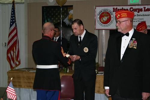 Awards presentation at the annual Birthday Ball.