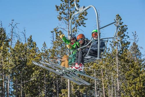 2 lifts serving beginner, intermediate and advanced terrain