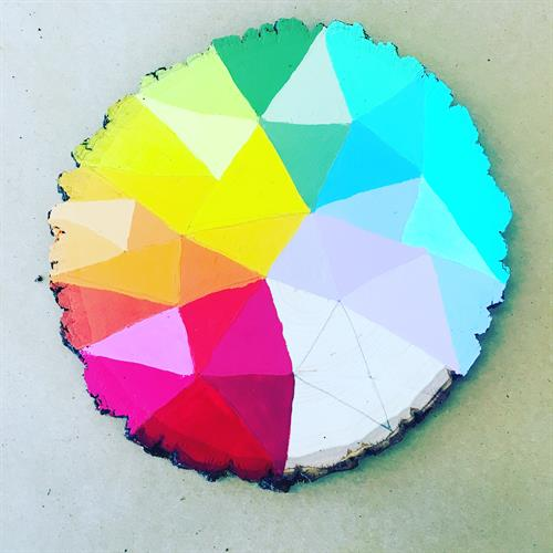 Paint on Wood Rounds at Flaming Gorge Modern Makers