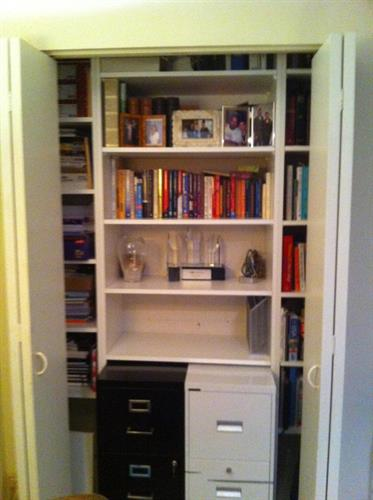 Small closet transformed AFTER