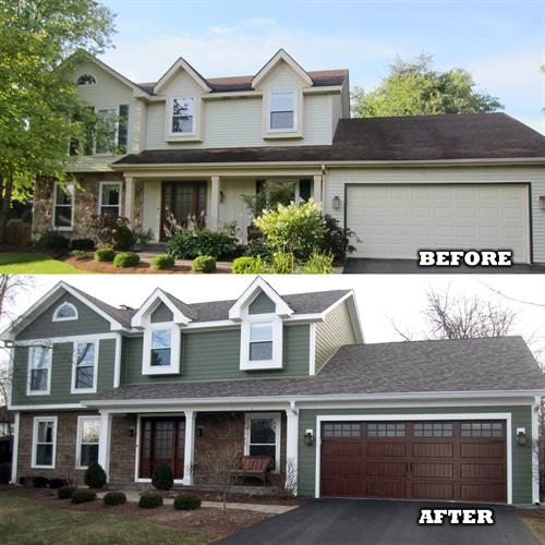 James Hardie siding before & after