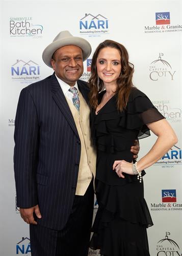 Asif Choudhury and Lisa Wilson at the NARI CotY Awards dinner