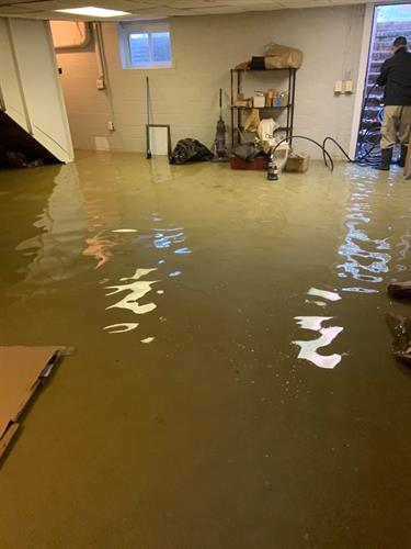 Residential water damage: After a rainstorm, a local home experienced a basement flooding. We quickly arrived to the scene to take care of the matter. It's important to act fast in order to prevent further issues, such as mold growth.