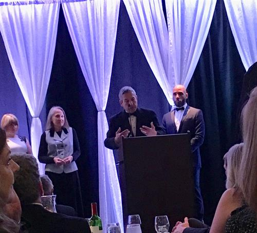 Jeff receiving Citizen of the Year Award (Rockville Chamber of Commerce), 2017
