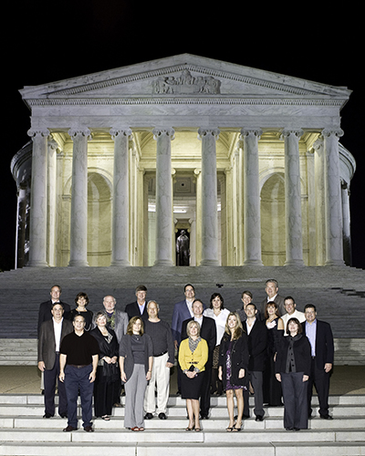 Financial Group Photo at the Jefferson Memorial