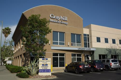 Graybill Urgent Care is located on the corner of 2nd Avenue and Juniper in Downtown Escondido