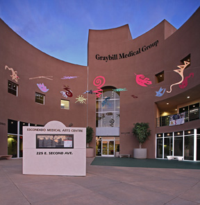 Graybill Urgent Care is located in the iconic Escondido Medical Arts Building