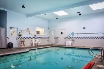 Our indoor, heated pool where patients come to receive aquatic therapy!