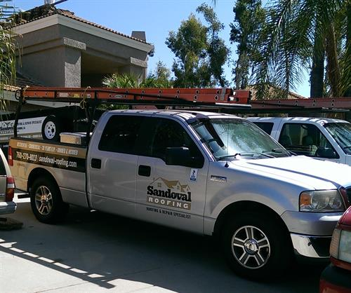 Sandoval Roofing, Inc. at job site in Escondido, CA.