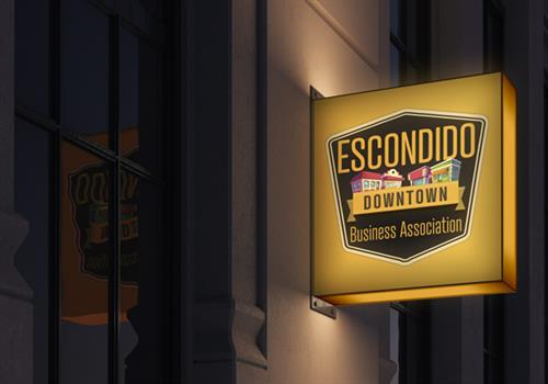 Created the new Escondido Downtown Business Association Logo