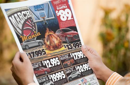 Designed ad for car dealership
