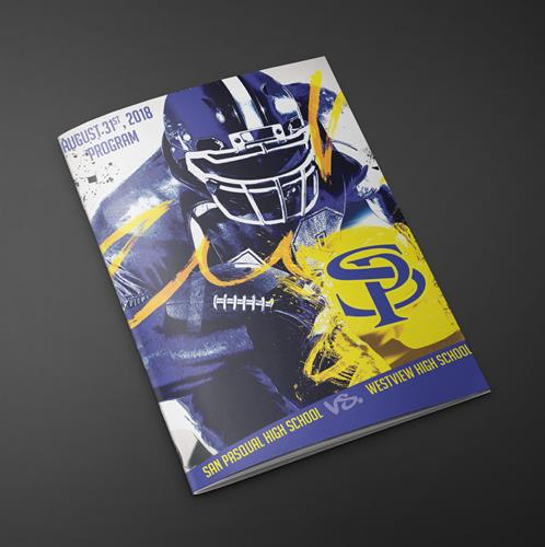Design Cover for San Pasqual Football Program