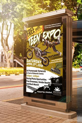 Created Poster for Teen Expo held in Temecula