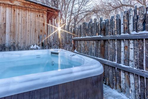 Puerta Blanca's Private six person outdoor hot tub