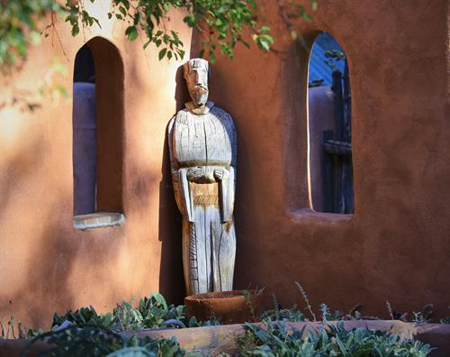 The iconic and historic St Francis de Asis Church is just a 10 minute walk from the Inn in the Ranchos de Taos Plaza