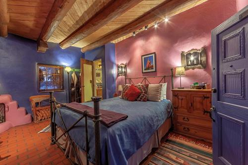 Puerta Azul is one of our most intimate rooms in the historic 1832 part of the Inn