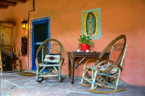 Puerta Azul and Puerta Verde have comfy chairs on the Grand Portal to take in views of the Mountains.