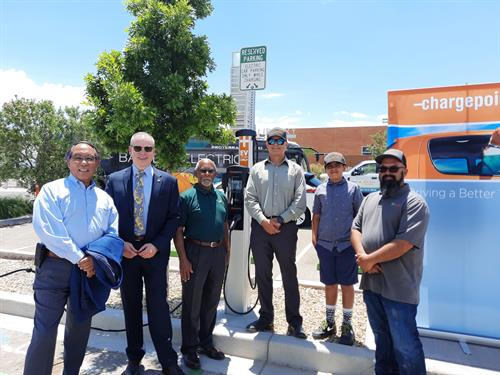 City of Albuquerque EV Charging Station Project Ribbon Cutting Ceremony