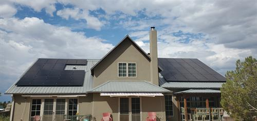 Roof-mount Residential solar array