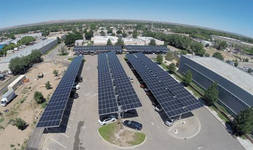 City of Albuquerque Police Forensics Solar Parking Canopies