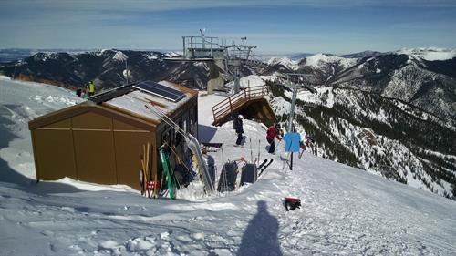 Off-grid solar on Kachina Peak powering the Kachina lift