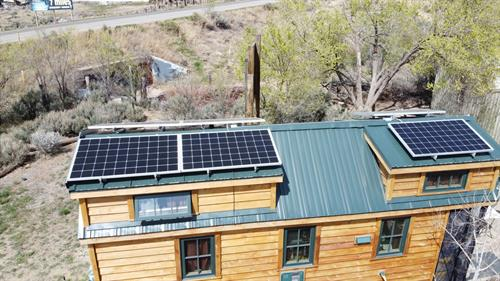 This tiny home went solar for function on the move!