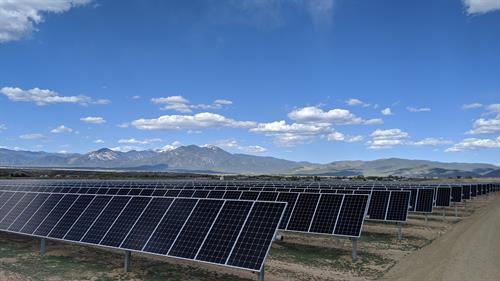 Utility scale solar array for Taos Wastewater Treatment Plant
