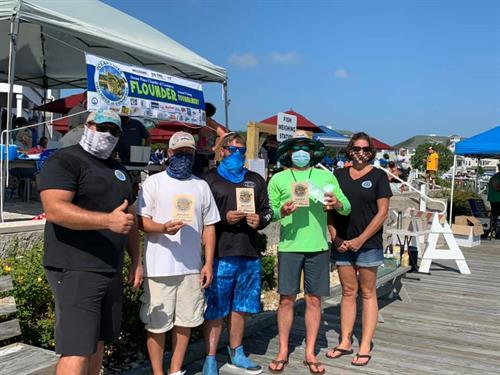 13th Annual Flounder Tournament in 2020.  Our winners.