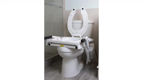 Up lift toilet seat