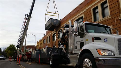 Residential and construction debris dumpster services
