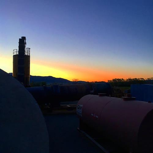 Early Mornings at the Asphalt Plant. We staff for your needs.