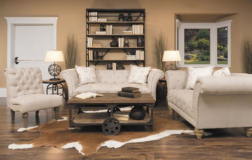 Over 200 living room collections in stock.