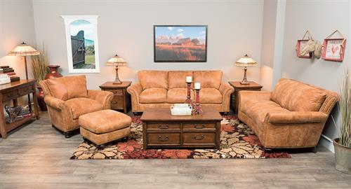 Huge selection of genuine leather furniture in stock.