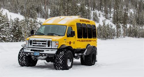 Snowcoach Tour in Yellowstone