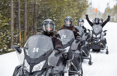 Snowmobile Tour in Yellowstone