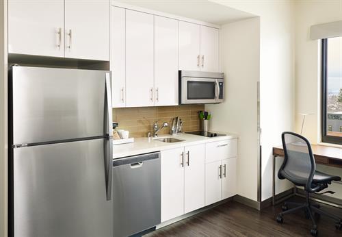 Element Bozeman Guestroom Kitchen in Studios and Suites