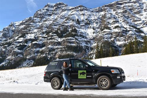 Winter SUV Tour and Hot Springs Soak