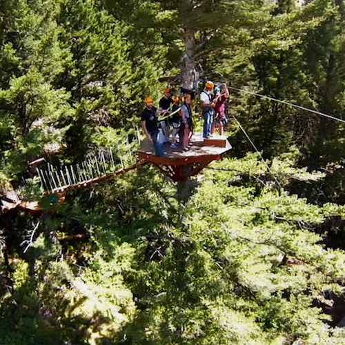 Gallatin River ZipLine Tree Platforms