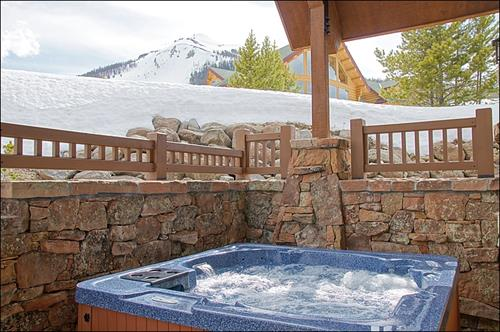 out side hot tub