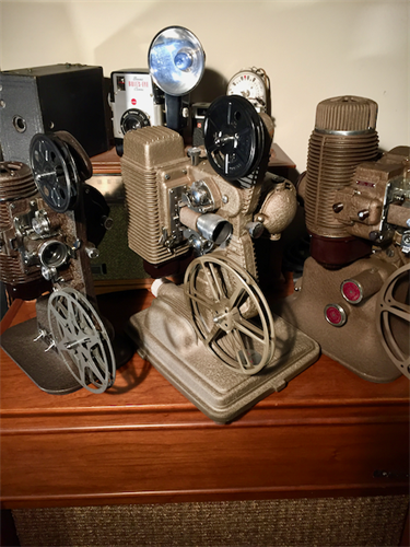Vintage Film Projector Display