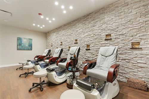 The nail room, where you can get your manicure and pedicure done.