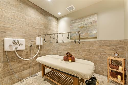 The Vichy Shower where you have your choice of a body treatment.